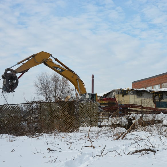 "Demolition of the southern section of Barrie Central Collegiate - <a href=""https://www.simcoe.com/news-story/8045739-demolition-starts-on-historic-barrie-central-collegiate-building/"" target=""_blank"" rel=""noopener nofollow noreferrer"">Chris Simon/Torstar"